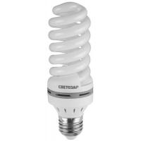 """Энергосберегающая лампа СВЕТОЗАР """"ЭКОНОМ"""" спираль,цоколь E27(стандарт),Т3,теплый белый свет(2700 К), 8000час, 25Вт(125) 44352-25_z01"""