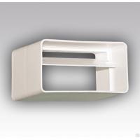 Соединитель для плоских воздуховодов пластиковый с обратным клапаном 55х110 мм