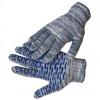 Перчатки рабочие ХБ с ПВХ волна 10 кл. Серые