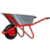 Тачка садово-строительная одноколесная 110 л 200 кг