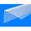 Угол перфорированный ПВХ с сеткой 100х100x3000 мм