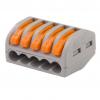 Клемма на 5 проводов Wago 222-415 0,08-2,5 кв. мм с рычажком