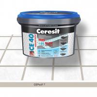 Затирка Ceresit СЕ 40 aquastatic № 07 серая 2 кг